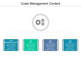 Costs Management Content Ppt Powerpoint Presentation Slides Cpb