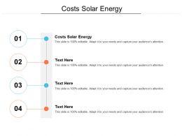Costs Solar Energy Ppt Powerpoint Presentation Ideas Slides Cpb