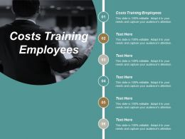 Costs Training Employees Ppt Powerpoint Presentation File Inspiration Cpb