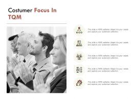 Costumer Focus In TQM Communication Management Ppt Powerpoint Presentation File Layout Ideas