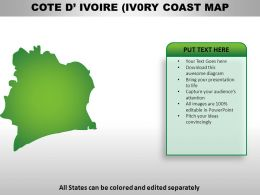 Cote divoire Country Powerpoint Maps