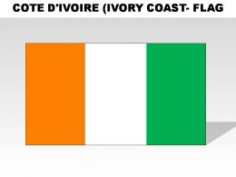Cote Divoire Ivory Cosat Country Powerpoint Flags