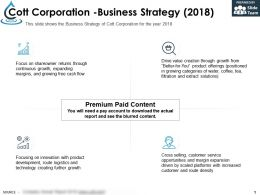 Cott Corporation Business Strategy 2018