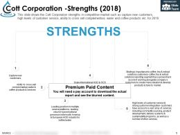 Cott Corporation Strengths 2018