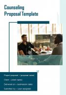 Counseling Proposal Example Document Report Doc Pdf Ppt