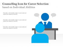 Counselling Icon For Career Selection Based On Individual Abilities