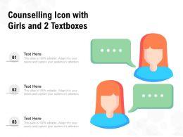Counselling Icon With Girls And 2 Textboxes