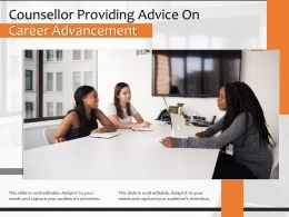 Counsellor Providing Advice On Career Advancement