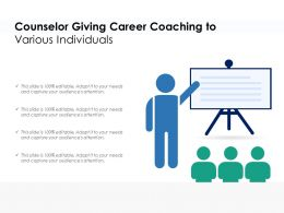 Counselor Giving Career Coaching To Various Individuals