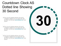 Countdown Clock As Dotted Line Showing 30 Second