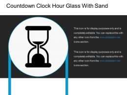 Countdown Clock Hour Glass With Sand