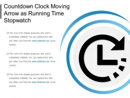 Countdown Clock Moving Arrow As Running Time Stopwatch