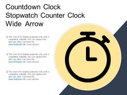 Countdown Clock Stopwatch Counter Clock Wide Arrow