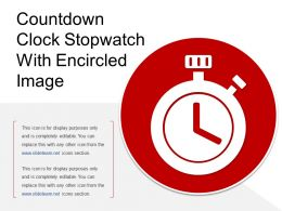 Countdown Clock Stopwatch With Encircled Image
