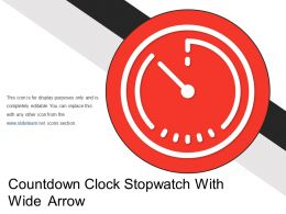 Countdown Clock Stopwatch With Wide Arrow