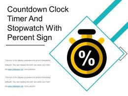Countdown Clock Timer And Stopwatch With Percent Sign