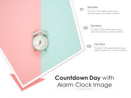 Countdown Day With Alarm Clock Image