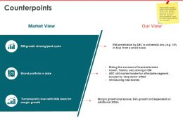 Counterpoints Market Growth Ppt Powerpoint Presentation Icon