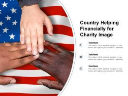 Country Helping Financially For Charity Image