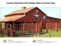 Country Side Barn With United States Of Texas Flag