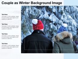 Couple As Winter Background Image