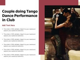 Couple Doing Tango Dance Performance In Club