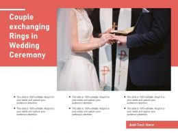 Couple Exchanging Rings In Wedding Ceremony