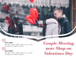 Couple Meeting Near Shop On Valentines Day