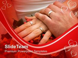 Couple With Wedding Rings PowerPoint Templates PPT Themes And Graphics 0213