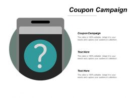Coupon Campaign Ppt Powerpoint Presentation Pictures Maker Cpb