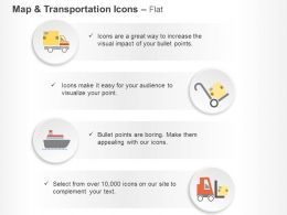 Courier Van Ship Forklift Shipping System Ppt Icons Graphics