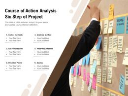 Course Of Action Analysis Six Step Of Project