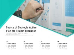 Course Of Strategic Action Plan For Project Execution
