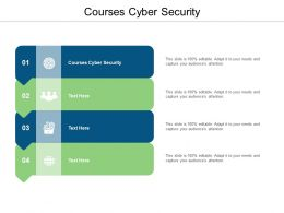 Courses Cyber Security Ppt Powerpoint Presentation Show Model Cpb