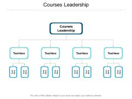 Courses Leadership Ppt Powerpoint Presentation Infographic Template Smartart Cpb