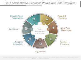 Court Administrative Functions Powerpoint Slide Templates