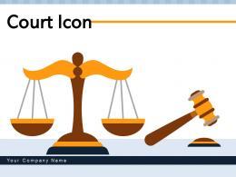 Court Icon Measuring Document Pillars Navigation Hearing