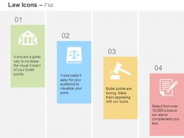 Court Justice Scale Gavel Note Ppt Icons Graphics