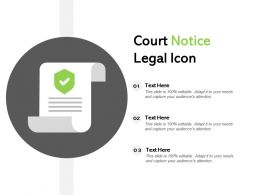 Court Notice Legal Icon