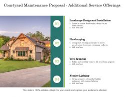 Courtyard Maintenance Proposal Additional Service Offerings Ppt Powerpoint Example