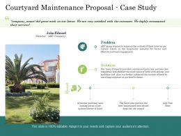 Courtyard Maintenance Proposal Case Study Ppt Powerpoint Presentation Model Templates