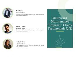 Courtyard Maintenance Proposal Client Testimonials Teamwork Ppt Powerpoint Show Tips