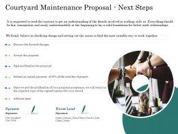 Courtyard Maintenance Proposal Next Steps Ppt Powerpoint Presentation Infographics