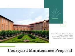 Courtyard Maintenance Proposal Powerpoint Presentation Slides