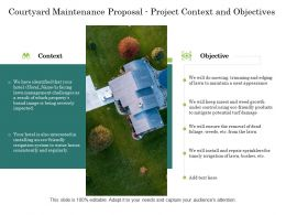 Courtyard Maintenance Proposal Project Context And Objectives Ppt Powerpoint Image