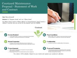 Courtyard Maintenance Proposal Statement Of Work And Contract Ppt Powerpoint Grid