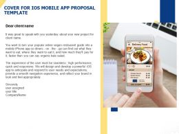 Cover For IOS Mobile App Proposal Template Ppt Powerpoint Presentation Templates