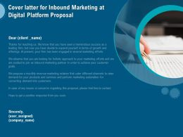Cover Latter For Inbound Marketing At Digital Platform Proposal Ppt Outline Rules