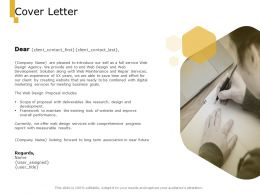 Cover Letter Business A1001 Ppt Powerpoint Presentation Infographic Template Deck