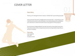 Cover Letter C1505 Ppt Powerpoint Presentation Topics